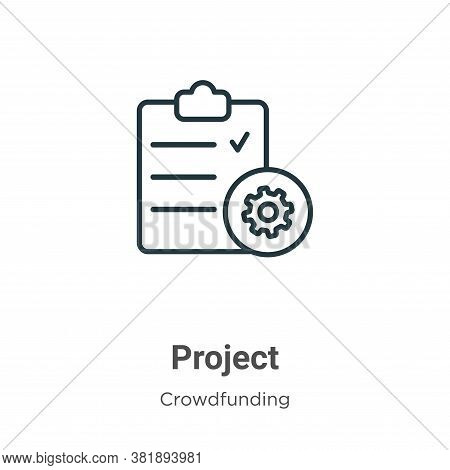 Project icon isolated on white background from crowdfunding collection. Project icon trendy and mode