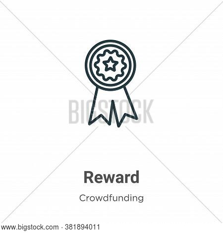 Reward icon isolated on white background from crowdfunding collection. Reward icon trendy and modern