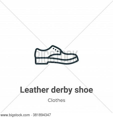 Leather derby shoe icon isolated on white background from clothes collection. Leather derby shoe ico