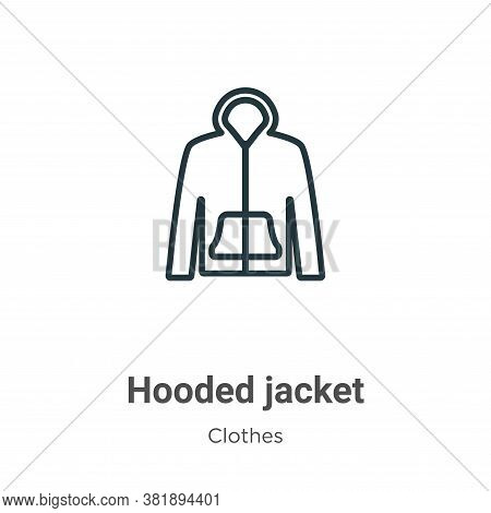Hooded jacket icon isolated on white background from clothes collection. Hooded jacket icon trendy a