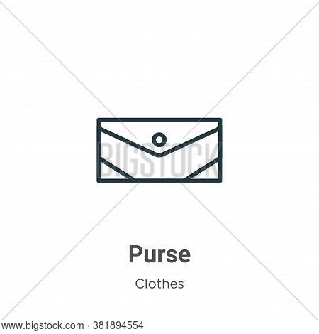 Purse icon isolated on white background from clothes collection. Purse icon trendy and modern Purse