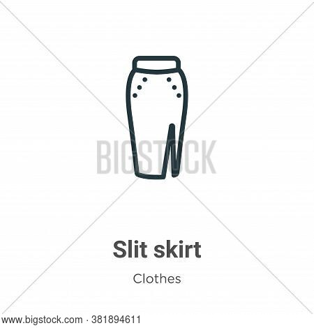 Slit skirt icon isolated on white background from clothes collection. Slit skirt icon trendy and mod