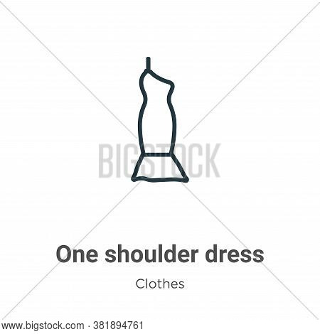 One shoulder dress icon isolated on white background from clothes collection. One shoulder dress ico