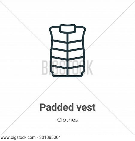 Padded vest icon isolated on white background from clothes collection. Padded vest icon trendy and m