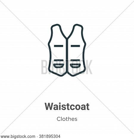 Waistcoat Icon From Clothes Collection Isolated On White Background.