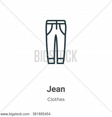 Jean icon isolated on white background from clothes collection. Jean icon trendy and modern Jean sym