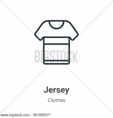 Jersey icon isolated on white background from clothes collection. Jersey icon trendy and modern Jers