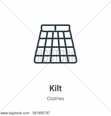 Kilt icon isolated on white background from clothes collection. Kilt icon trendy and modern Kilt sym