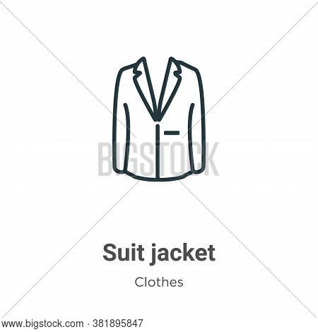 Suit jacket icon isolated on white background from clothes collection. Suit jacket icon trendy and m