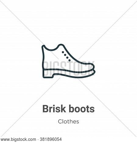 Brisk boots icon isolated on white background from clothes collection. Brisk boots icon trendy and m