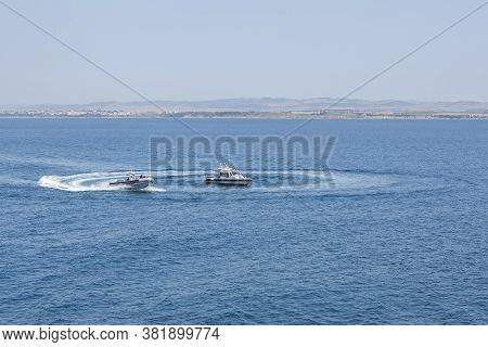 International Naval Exercise Breeze 2020. Burgas / Bulgaria / 07.17.20.warships, Helicopters And Boa