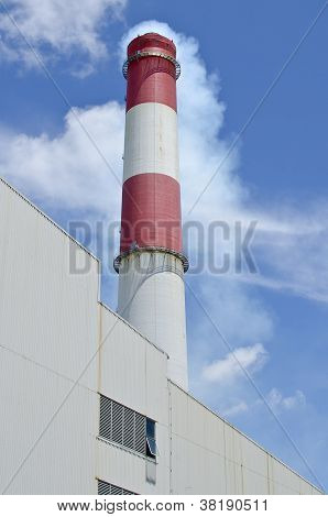 Red & White Factory Stack