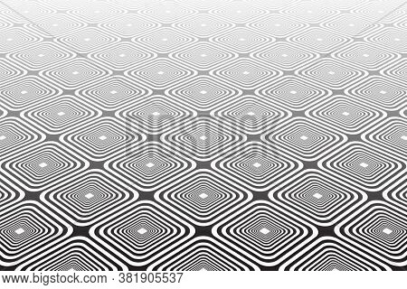 Abstract geometric diagonal checked pattern and texture in diminishing perspective.