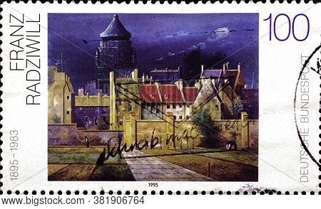 02 11 2020 Divnoe Stavropol Territory Russia The Postage Stamp Germany 1995 German Paintings From Th