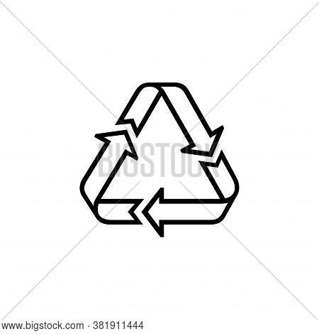Recycle Line Icon Vector. Recycle Icon Black On White Background. Recycle Icon Simple And Modern For