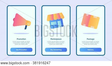 Promotion Marketplace Package For Mobile Apps Template Banner Page Ui With Three Variations Modern F