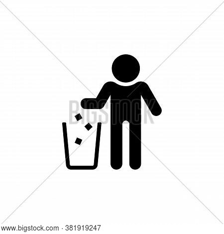 Garbage Recycling Sign. Trash Icon. The Basket Symbol Is Isolated On A White Background. Eps 10