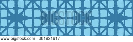 Japanese Tie Dye Seamless Pattern. Luxurious Japanese Clothes Texture. Artistic Shibori Seamless Pat