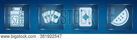 Set Deck Of Playing Cards, Deck Of Playing Cards, Playing Card With Spades And Casino Slot Machine W