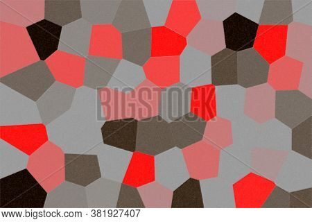 Shiny Red , Black, Pink, Silver, Ceramic Granite Tiles Pattern With A Relief Structure, Background,