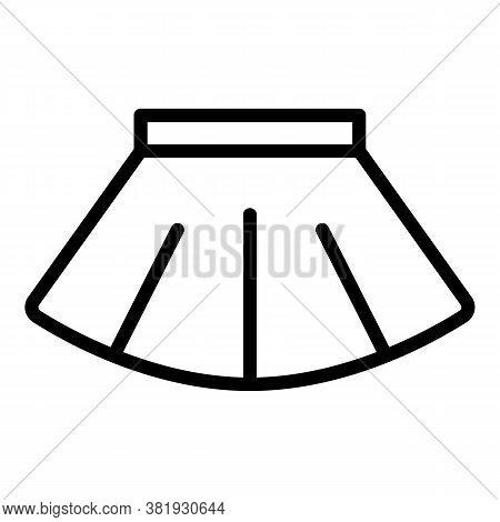 Ballet Skirt Icon. Outline Ballet Skirt Vector Icon For Web Design Isolated On White Background