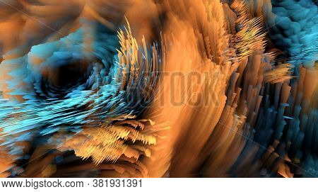 Abstract Blue Background. Smooth And Elegant Rich Luxury Background.