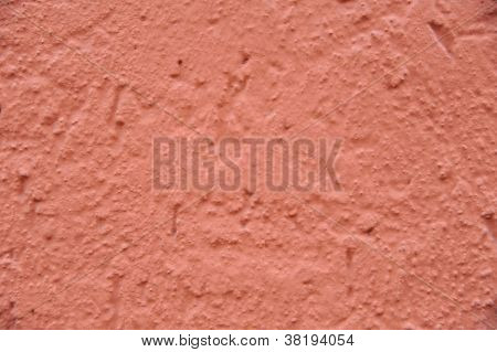 Neon Orange Colored Painted Wall Background