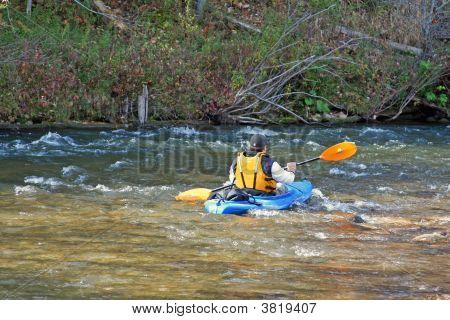Kayak In White Water