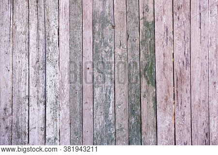 Vintage Blue Wood Background Texture With Knots And Nail Holes. Old Painted Wood Wall. Blue Abstract
