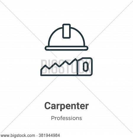 Carpenter icon isolated on white background from professions collection. Carpenter icon trendy and m
