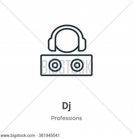 Dj icon isolated on white background from professions collection. Dj icon trendy and modern Dj symbo