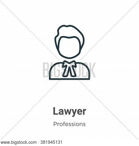 Lawyer icon isolated on white background from professions collection. Lawyer icon trendy and modern