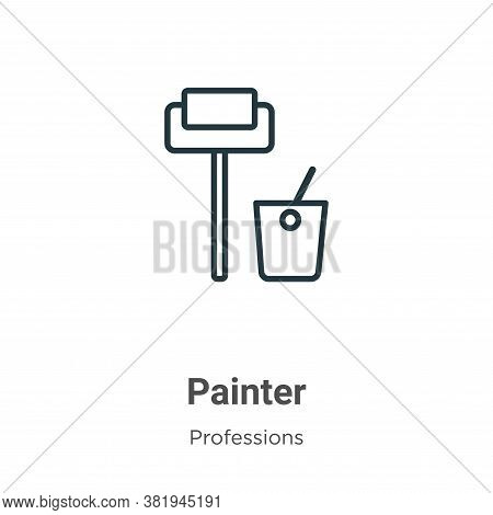 Painter icon isolated on white background from professions collection. Painter icon trendy and moder