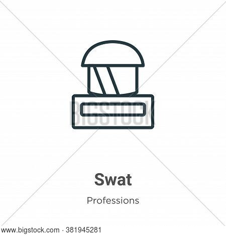 Swat icon isolated on white background from professions collection. Swat icon trendy and modern Swat