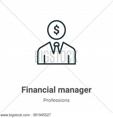 Financial manager icon isolated on white background from professions collection. Financial manager i