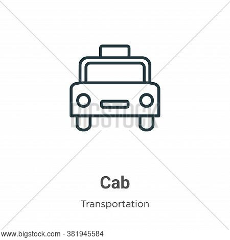 Cab icon isolated on white background from transportation collection. Cab icon trendy and modern Cab
