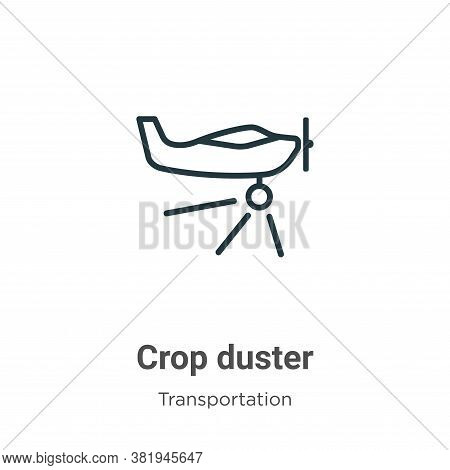 Crop duster icon isolated on white background from transportation collection. Crop duster icon trend