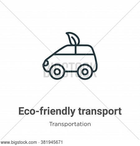 Eco-friendly transport icon isolated on white background from transportation collection. Eco-friendl