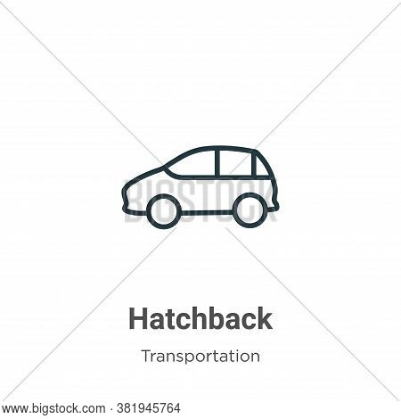 Hatchback icon isolated on white background from transportation collection. Hatchback icon trendy an