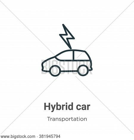 Hybrid car icon isolated on white background from transportation collection. Hybrid car icon trendy