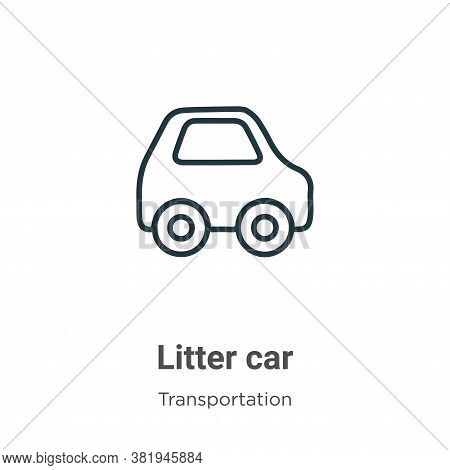 Litter car icon isolated on white background from transportation collection. Litter car icon trendy