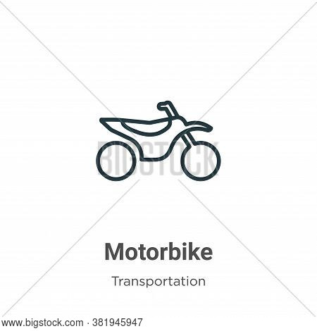 Motorbike icon isolated on white background from transportation collection. Motorbike icon trendy an