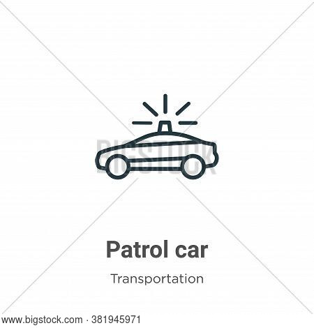 Patrol car icon isolated on white background from transportation collection. Patrol car icon trendy