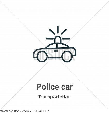 Police car icon isolated on white background from transportation collection. Police car icon trendy