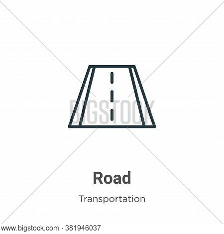 Road icon isolated on white background from transportation collection. Road icon trendy and modern R