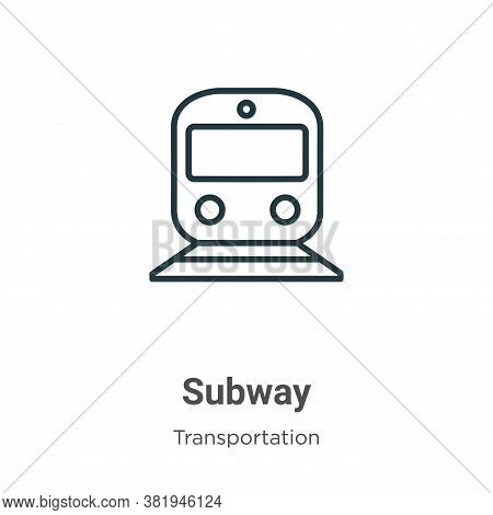 Subway icon isolated on white background from transportation collection. Subway icon trendy and mode