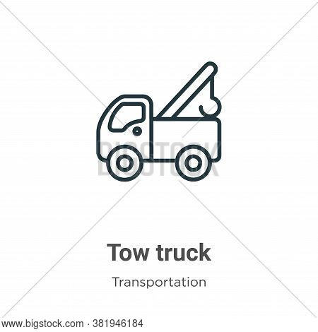 Tow truck icon isolated on white background from transportation collection. Tow truck icon trendy an