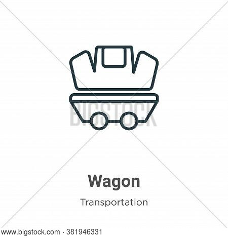 Wagon icon isolated on white background from transportation collection. Wagon icon trendy and modern