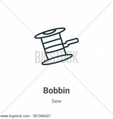 Bobbin icon isolated on white background from sew collection. Bobbin icon trendy and modern Bobbin s