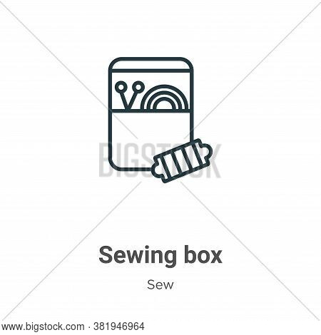 Sewing box icon isolated on white background from sew collection. Sewing box icon trendy and modern